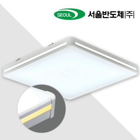 LED 프리미엄 방등 50W (국산/KC인증) (500*500*85) 화이트/옐로우 6500K