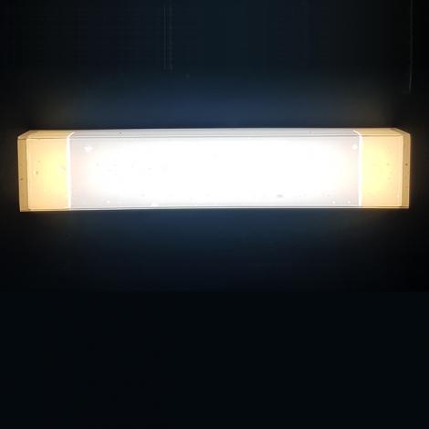LED 눈꽃 투톤 욕실등 20W (국산) (425*80*60) 주광+전구색